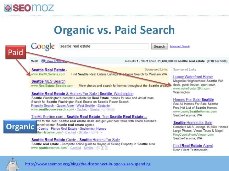 Organic vs. Paid Search<br />Paid<br />Organic<br />http:/googleblog.blogspot.com/2010/06/our-new-search-index-caffeine.ht...