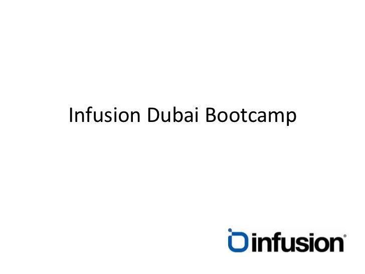 Infusion Dubai Bootcamp<br />