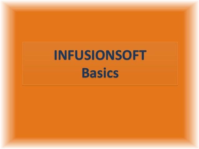 INFUSIONSOFT Basics