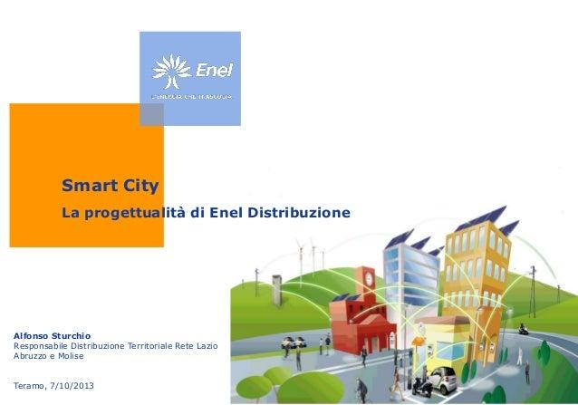 Smart City La progettualità di Enel Distribuzione  Alfonso Sturchio Responsabile Distribuzione Territoriale Rete Lazio Abr...