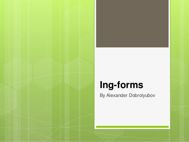 Ing-forms By Alexander Dobrolyubov