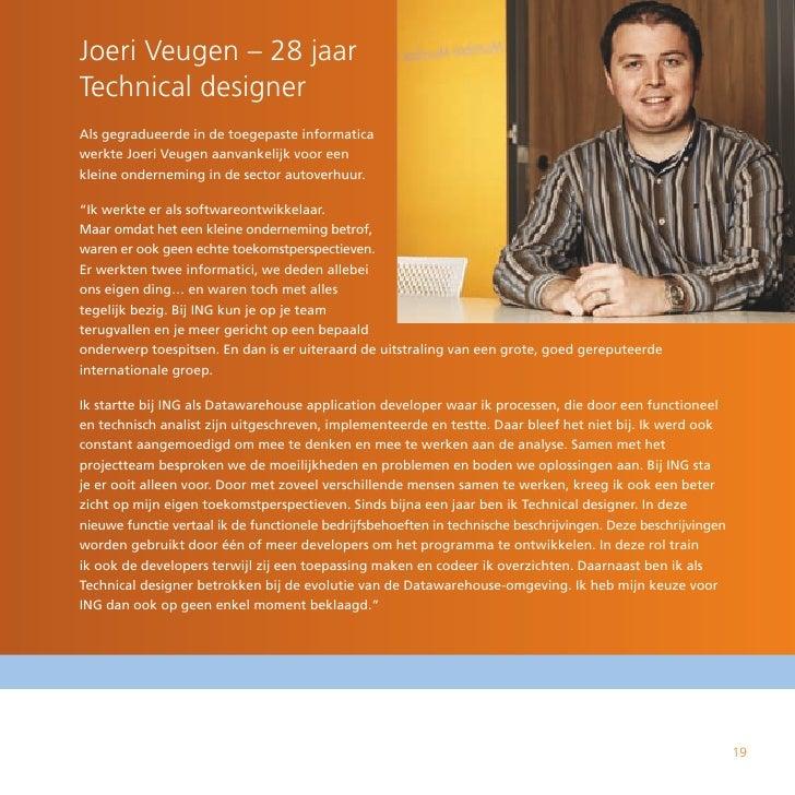 Joeri Veugen – 28 jaar Technical designer Als gegradueerde in de toegepaste informatica werkte Joeri Veugen aanvankelijk v...