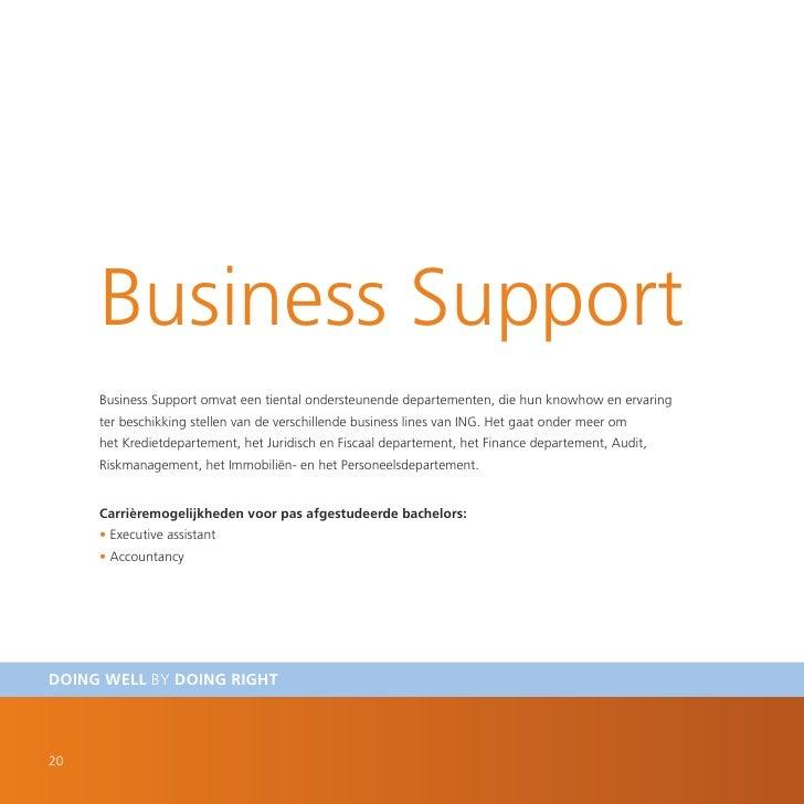 Business Support      Business Support omvat een tiental ondersteunende departementen, die hun knowhow en ervaring      te...