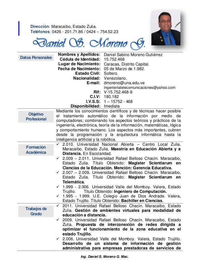 Dirección: Maracaibo, Estado Zulia.     Teléfonos: 0426 - 201.71.86 / 0424 – 754.52.23                   Nombres y Apellid...