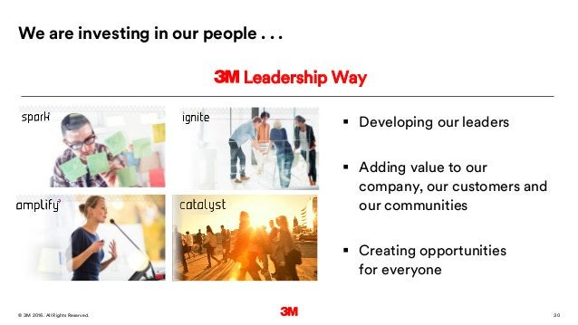30. All Rights Reserved.28 March 2016© 3M  Developing our leaders  Adding value to our company, our customers and our co...