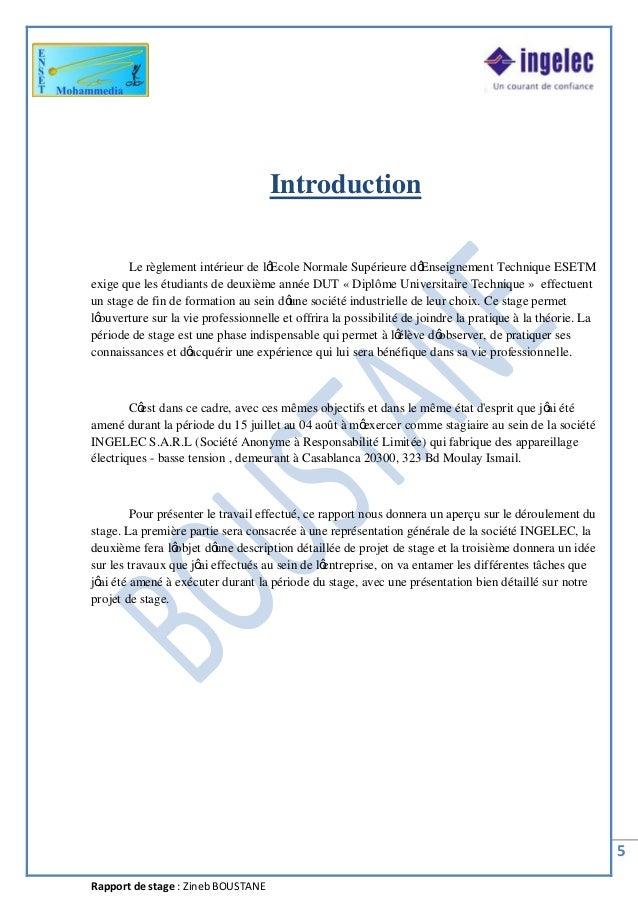 rapport de stage introduction pdf