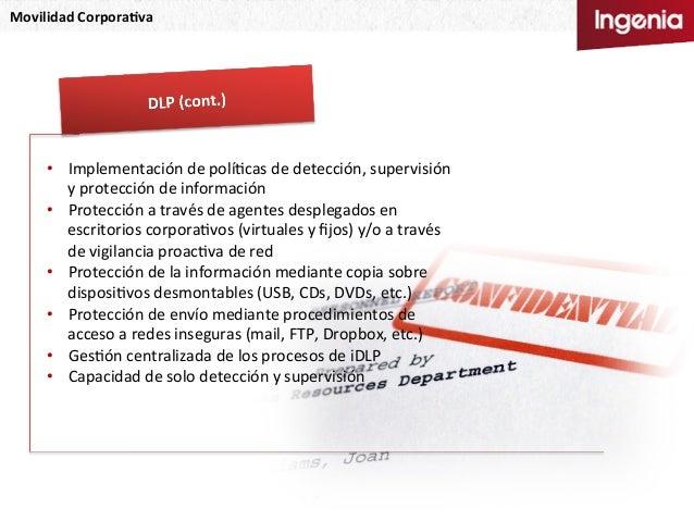 Movilidad  Corpora,va   • Implementación  de  políNcas  de  detección,  supervisión   y  protección  ...