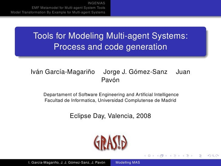 INGENIAS             EMF Metamodel for Multi-agent System Tools Model Transformation By Example for Multi-agent Systems   ...