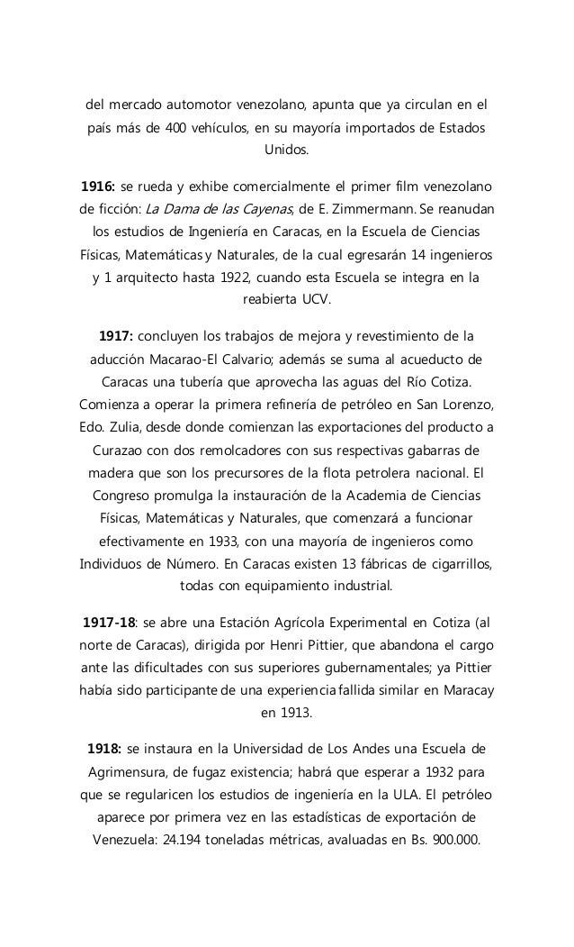 Evolución de la ingeniería en Venezuela.