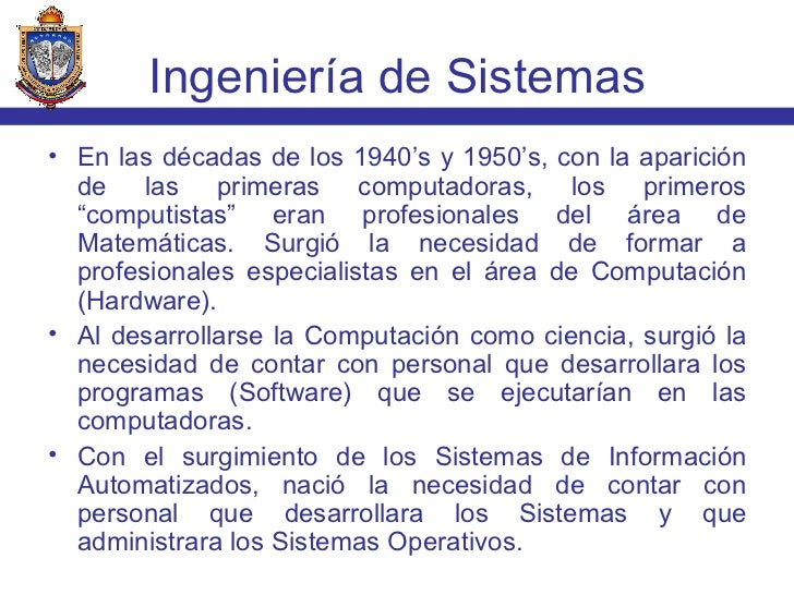 Ingenieria de Sistemas Slide 2