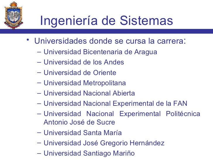 <ul><li>Universidades donde se cursa la carrera : </li></ul><ul><ul><li>Universidad Bicentenaria de Aragua </li></ul></ul>...