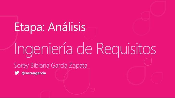 Ingeniería de Requisitos @soreygarcia