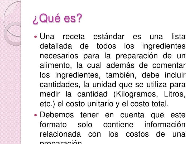 Image Result For Concepto Y Definicion De Receta De Cocina