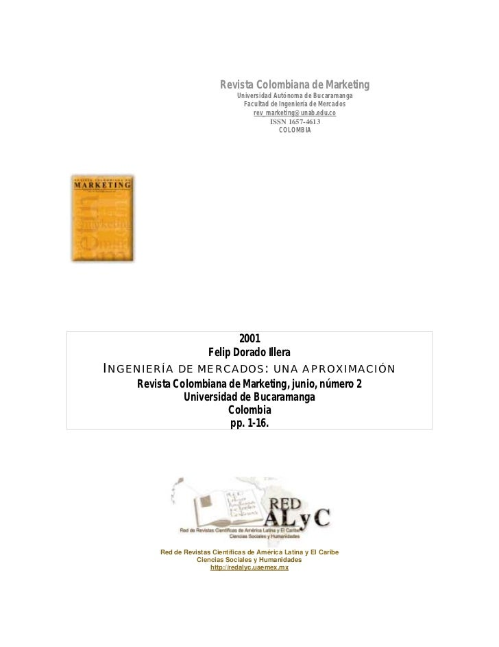 Revista Colombiana de Marketing                                Universidad Autónoma de Bucaramanga                        ...