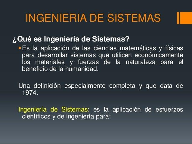 Ingeniería De Sistemas Unidad 1 Ingeniería Industrial
