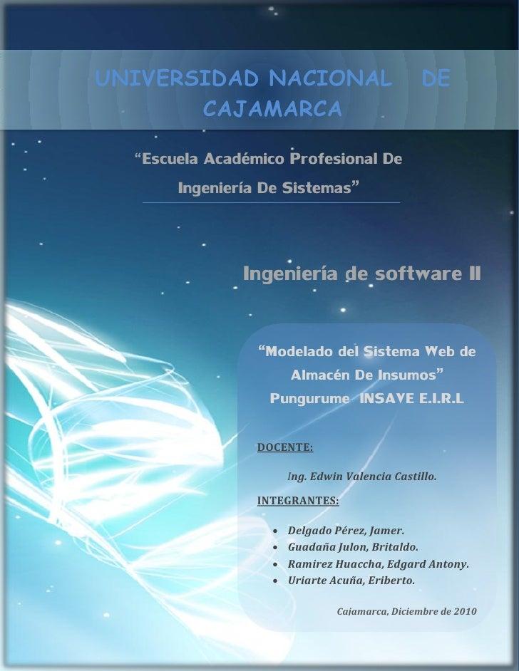 """UNIVERSIDAD NACIONAL                            DE       CAJAMARCA  """"Escuela Académico Profesional De       Ingeniería De ..."""
