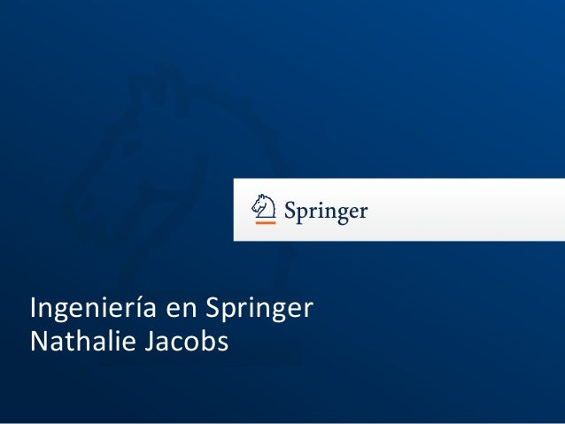 Ingeniería en Springer Nathalie Jacobs