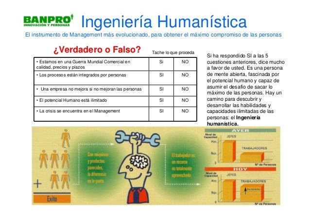 Ingeniería HumanísticaEl instrumento de Management más evolucionado, para obtener el máximo compromiso de las personas    ...
