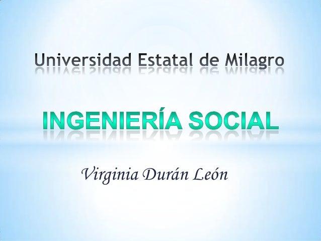 Virginia Durán León