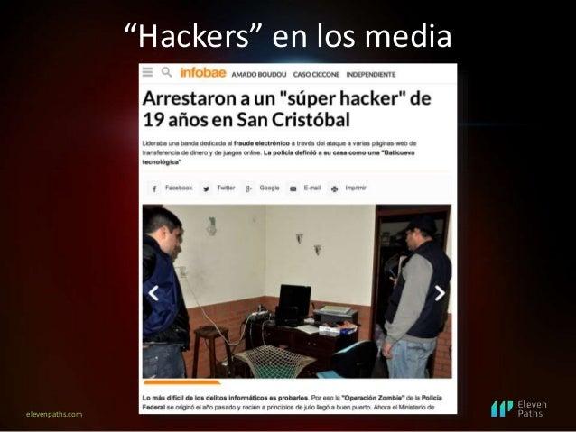 """elevenpaths.com """"Hackers"""" en los media"""