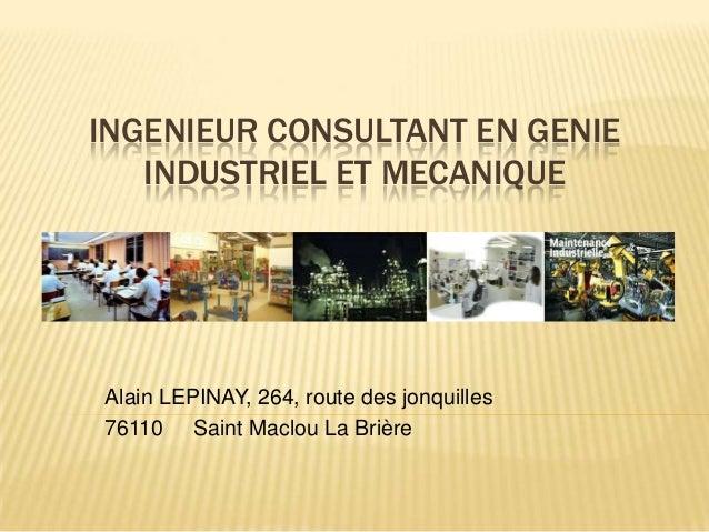 ingenieur consultant g u00e9nie industriel