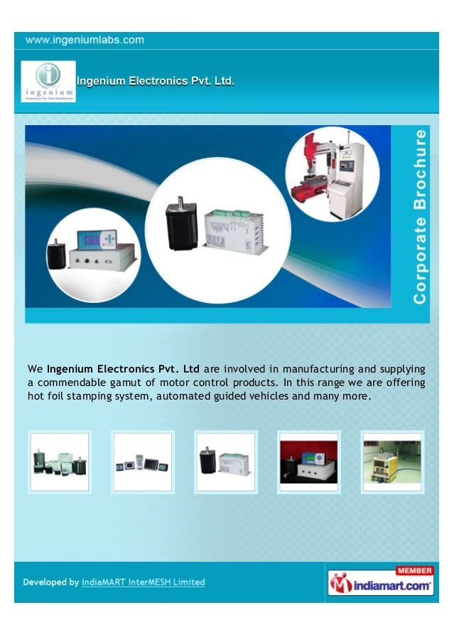We Ingenium Electronics Pvt. Ltd are involved in manufacturing and supplyinga commendable gamut of motor control products....