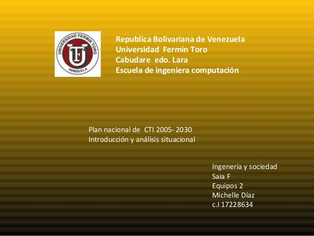 Republica Bolivariana de Venezuela        Universidad Fermín Toro        Cabudare edo. Lara        Escuela de ingeniera co...
