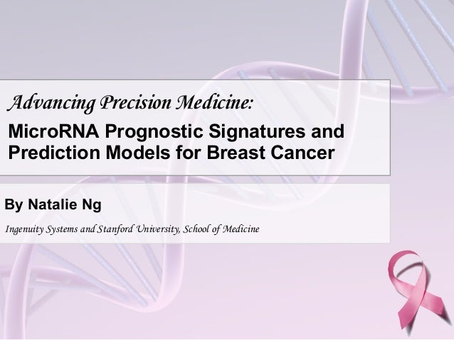 Advancing Precision Medicine: MicroRNA Prognostic Signatures and Prediction Models for Breast Cancer By Natalie Ng Ingenui...