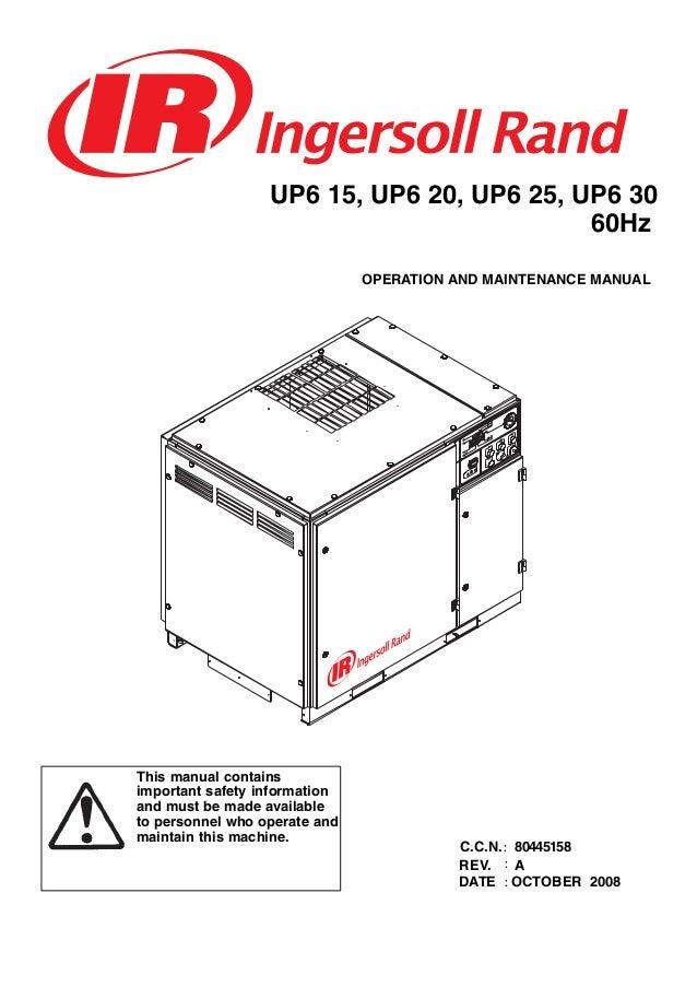 ingersoll rand 15 to 30 hp rotary screw air compressor manual jec rh slideshare net ingersoll rand compressor motor wiring diagram ingersoll rand compressor ...