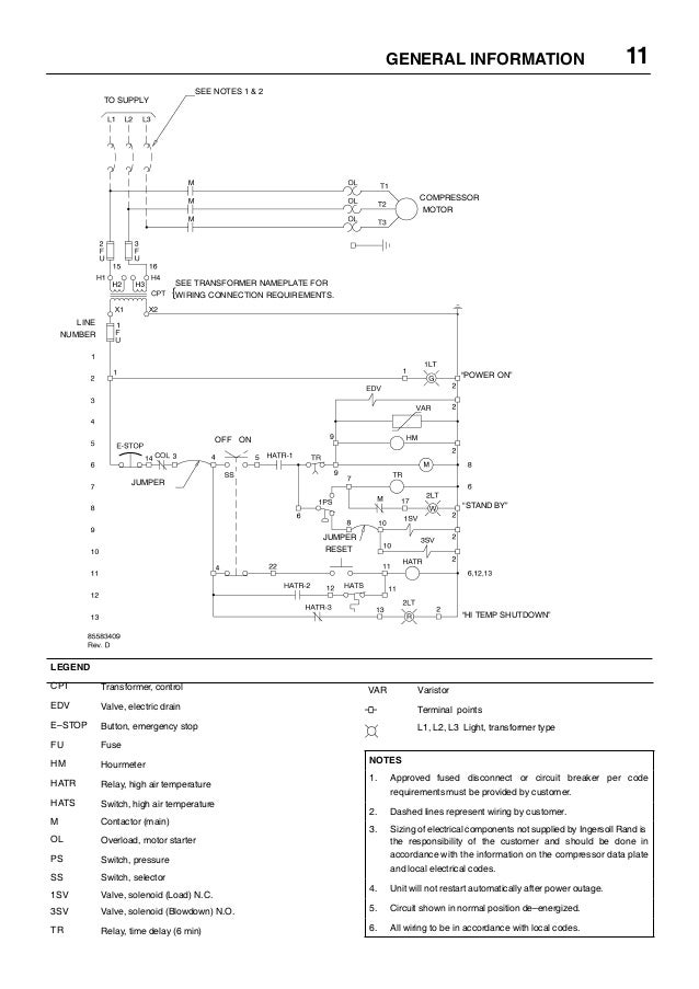 ingersoll rand 15 to 30 hp rotary screw air compressor manual jec rh slideshare net Kenmore Dryer Heating Element Wiring-Diagram Gas Dryer Schematic