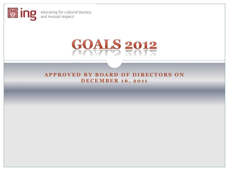 APPROVED BY BOARD OF DIRECTORS ON        DECEMBER 16, 2011