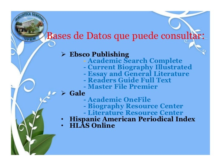 ebsco essay and general literature index Essay and general literature index is a bibliographic database that cites essays and articles  included in academic search complete published by: ebsco .