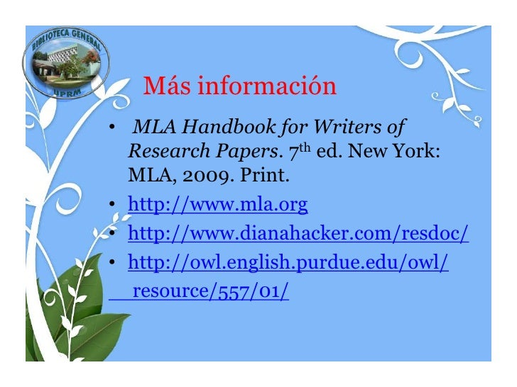 mla handbook for writers of research papers 5th edition Mini-manual for using mla style in research papers the mla handbook for writers of research papers ed mla handbook for writers of research papers 5th ed.