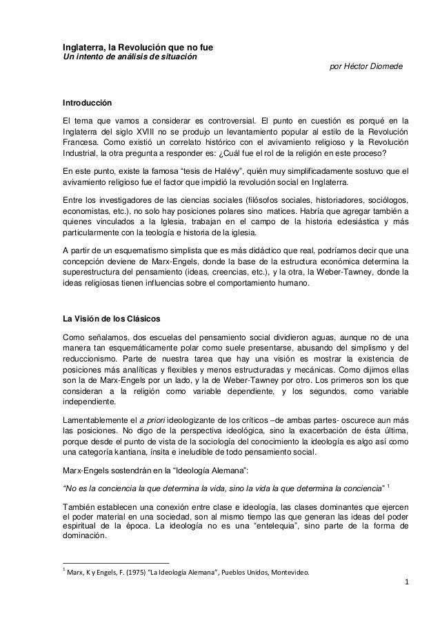 1Inglaterra, la Revolución que no fueUn intento de análisis de situaciónpor Héctor DiomedeIntroducciónEl tema que vamos a ...