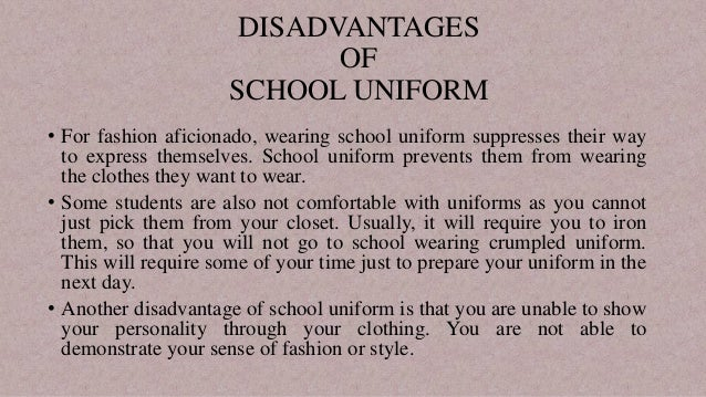 13 Serious Advantages and Disadvantages of School Uniforms