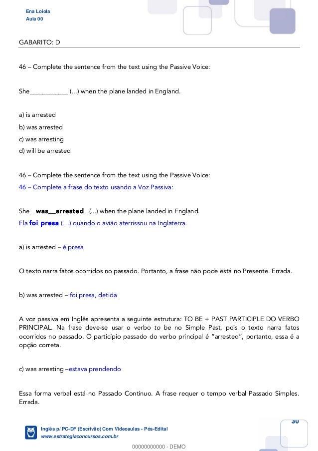 Curso de Inglês para Concurso PCDF