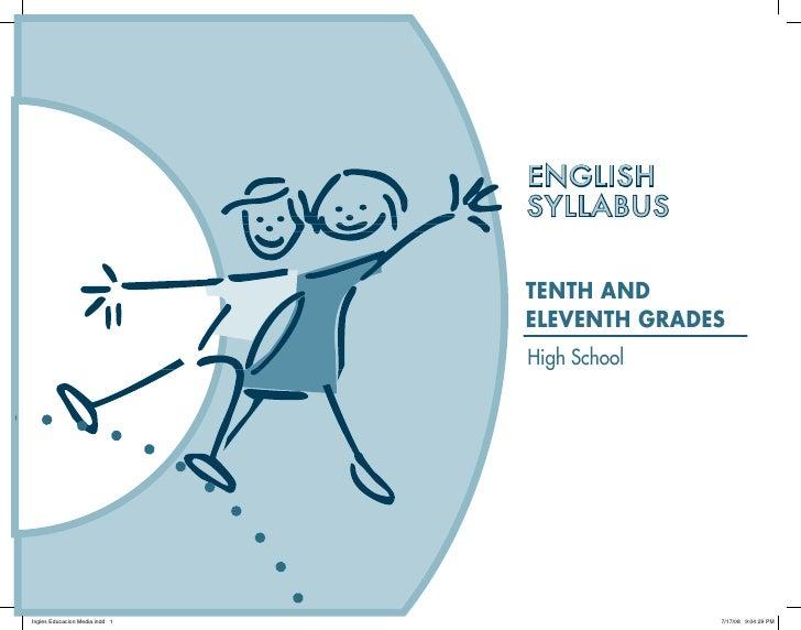 ENGLISH SYLLABUS   TENTH AND ELEVENTH GRADES High School