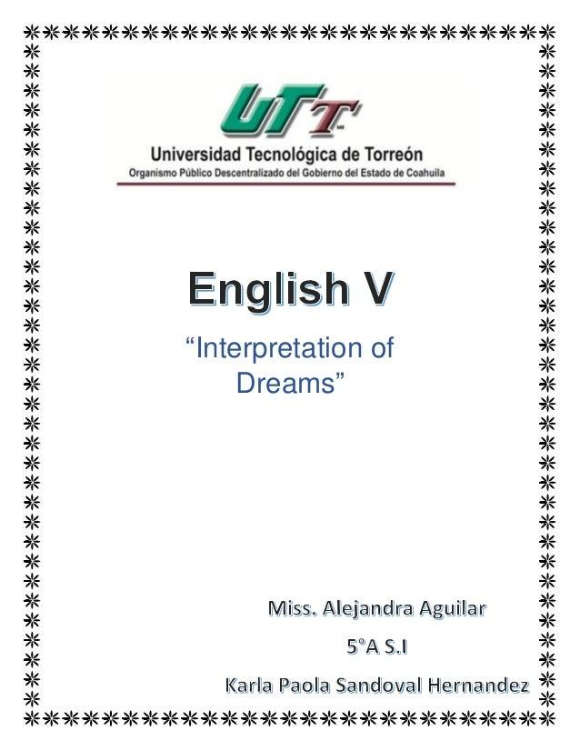 """""""Interpretation of Dreams"""""""