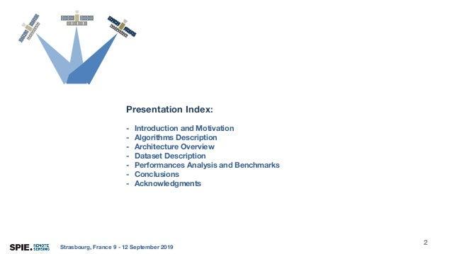 SPIE Remote Sensing 2019 Slide 2