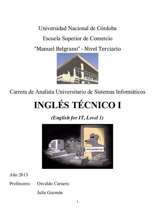 Minero cada pasar por alto  Ingles tecnico i para informática 2013 en oficio