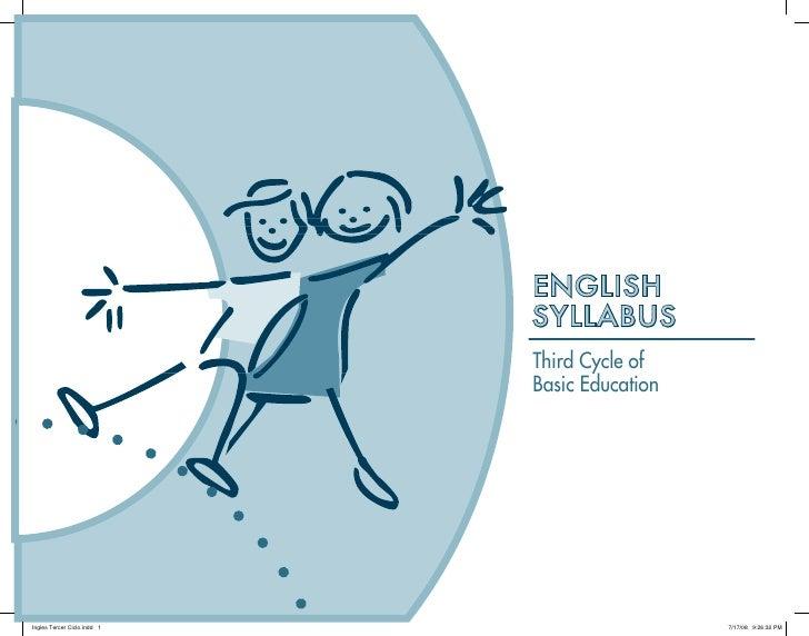 ENGLISH SYLLABUS Third Cycle of Basic Education