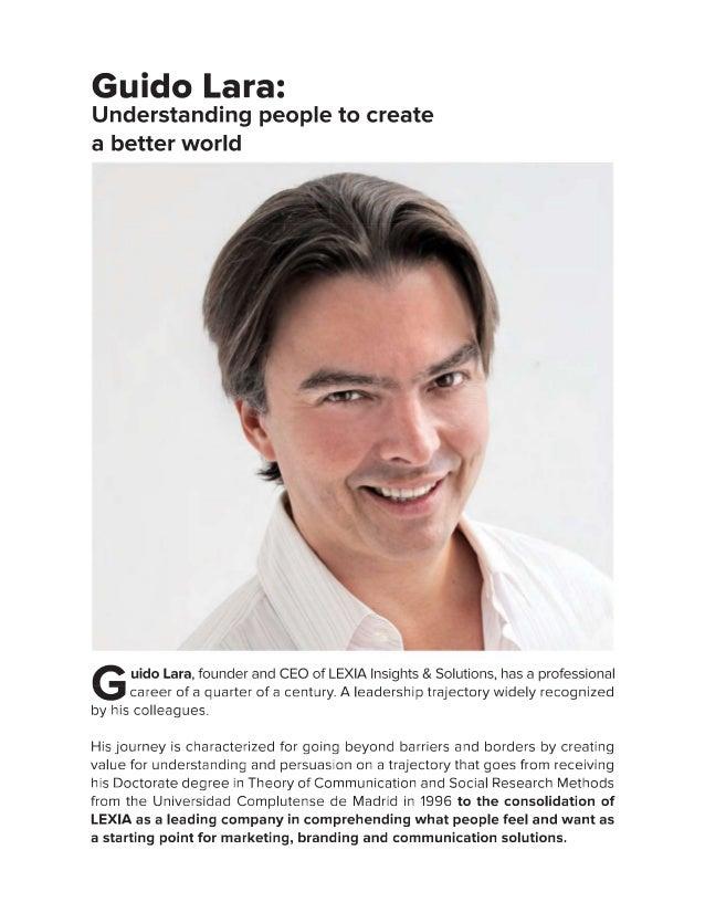 Guido Lara: Understanding people to create a better world