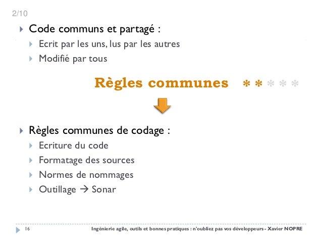 2/10      Code communs et partagé :          Ecrit par les uns, lus par les autres          Modifié par tous           ...