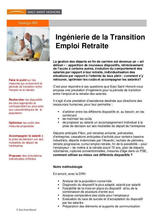 Ingenierie Transition Emploi Retraite