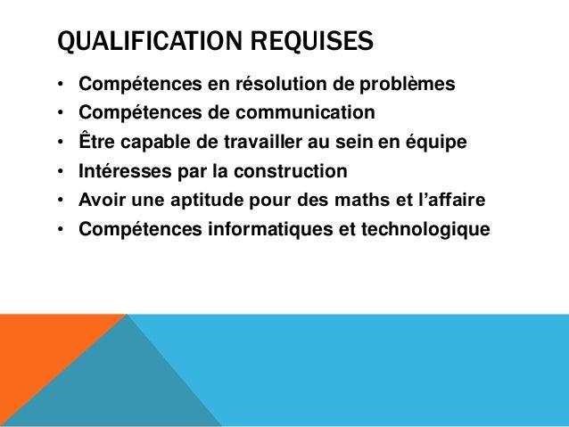 QUALIFICATION REQUISES• Compétences en résolution de problèmes• Compétences de communication• Être capable de travailler a...