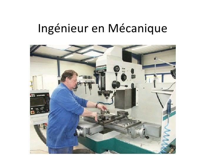 Ingénieur en Mécanique