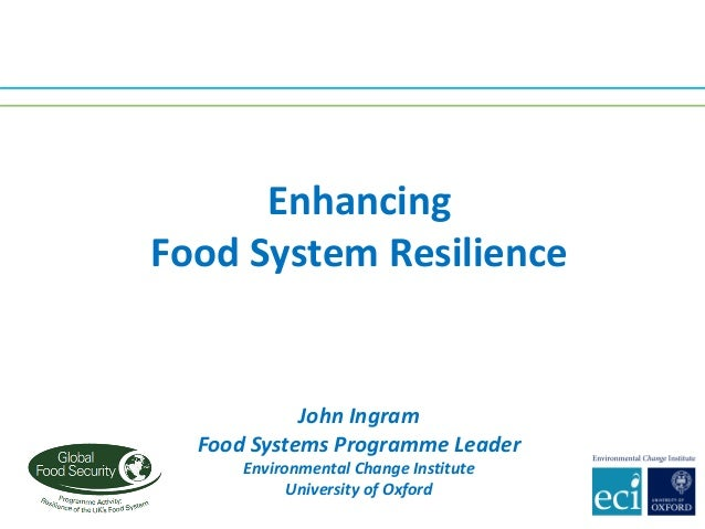 John	Ingram Food	Systems	Programme	Leader Environmental	Change	Institute University	of	Oxford Enhancing Food	System	Resili...