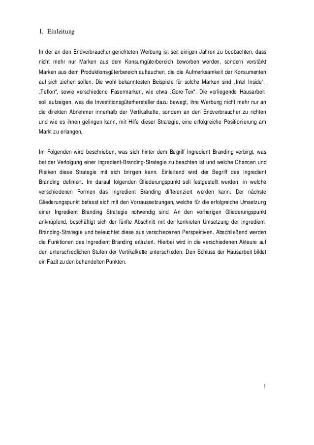 3 1 einleitung - Einleitung Hausarbeit Muster