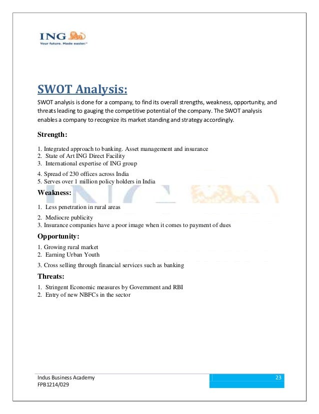 ing direct swot analysis Competitive analysis, ing direct competitor analysis is an assessment of the strengths and weaknesses of current and potential competitors porter (1980, 1998) argued that most firms do not conduct this type of analysis systematically enough.