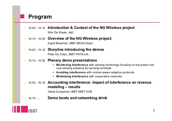 Ingrid moerman   isbo ng wi nets - overview of the project Slide 2